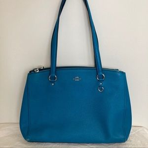Coach Stanton Peacock Leather Tote Bag